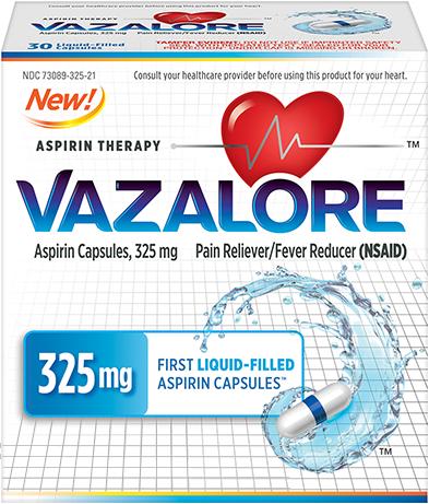 VAZALORE 325 mg package
