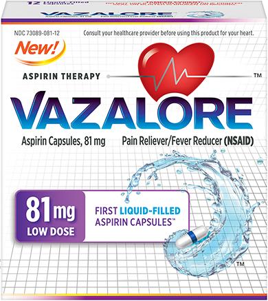 VAZALORE 81 mg package