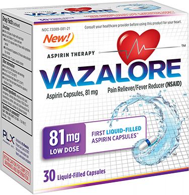 Vazalore 81mg package